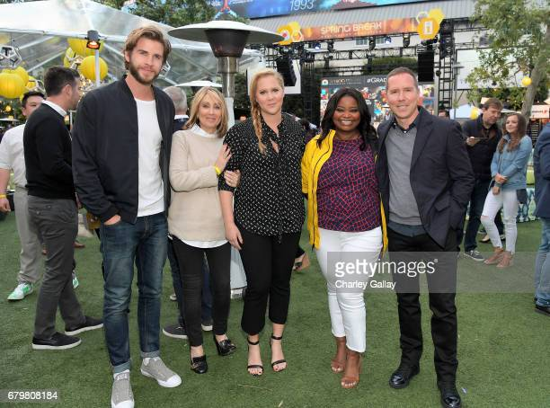 Actor Liam Hensworth CEO of 20th Century Fox Stacey Snider comedian Amy Schumer and host Octavia Spencer attend City Year Los Angeles Spring Break on...