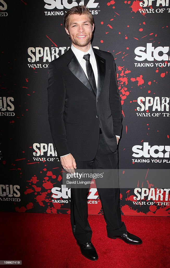 Actor Liam McIntyre attends the premiere of Starz's 'Spartacus: War of the Damned' at Regal Cinemas L.A. Live on January 22, 2013 in Los Angeles, California.
