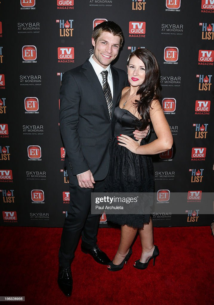 Actor Liam McIntyre (L) attends the TV Guide Magazine Hot List Party at SkyBar at the Mondrian Los Angeles on November 12, 2012 in West Hollywood, California.