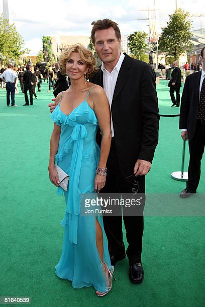 Actor Liam Neeson and Natasha Richardson arrive at the UK Premiere of The Chronicles of Narnia Prince Caspian at the O2 Dome in North Greenwich on...