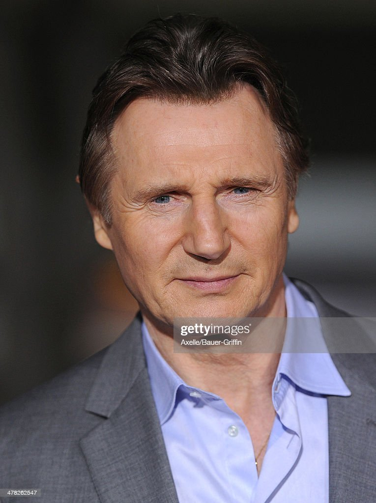 Actor <a gi-track='captionPersonalityLinkClicked' href=/galleries/search?phrase=Liam+Neeson&family=editorial&specificpeople=202030 ng-click='$event.stopPropagation()'>Liam Neeson</a> arrives at the Los Angeles premiere of 'Non-Stop' at Regency Village Theatre on February 24, 2014 in Westwood, California.