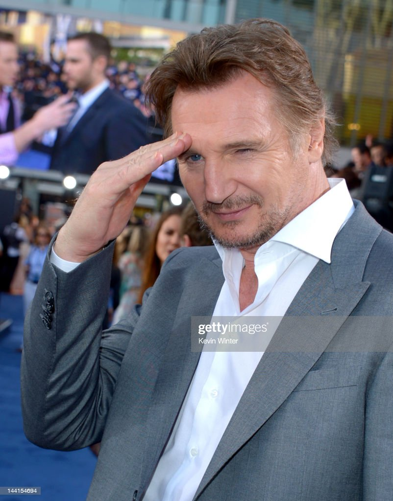 Actor <a gi-track='captionPersonalityLinkClicked' href=/galleries/search?phrase=Liam+Neeson&family=editorial&specificpeople=202030 ng-click='$event.stopPropagation()'>Liam Neeson</a> arrives at the premiere of Universal Pictures' 'Battleship' at Nokia Theatre L.A. Live on May 10, 2012 in Los Angeles, California.