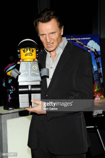Actor Liam Neeson attends 'The LEGO Movie' screening hosted by Warner Bros Pictures and Village Roadshow Pictures at AMC Empire 25 theater on...