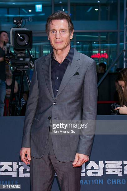 Actor Liam Neeson attends the premiere for 'Operation Chromite' on July 13 2016 in Seoul South Korea The film will open on July 27 in South Korea