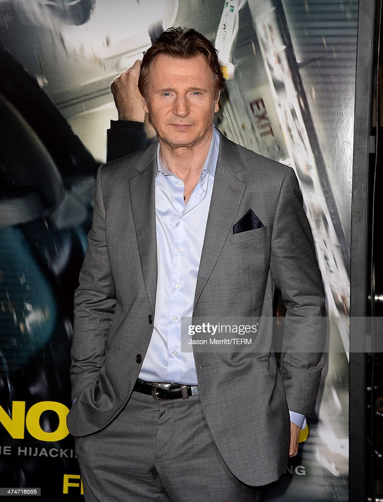 Actor Liam Neeson attends the premiere of Universal Pictures and Studiocanal's 'Non-Stop' at Regency Village Theatre on February 24, 2014 in Westwood, California.