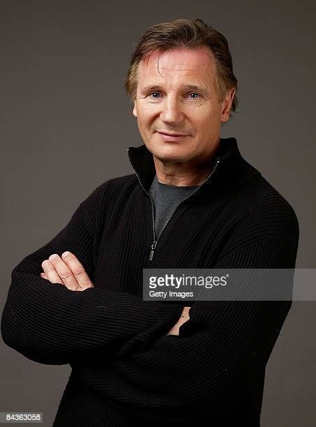 Actor Liam Neeson of the film 'Five Minutes Of Heaven' poses for a portrait at the Film Lounge Media Center during the 2009 Sundance Film Festival on...