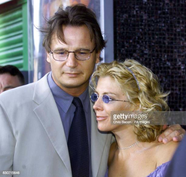 Actor Liam Neeson who plays Jedi master QuiGon Jinn in the film and his wife actress Natasha Richardson arrive for the Dublin Premiere of Stars Wars...