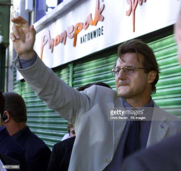 Actor Liam Neeson who plays Jedi master QuiGon Jinn in the film arrives at the Dublin Premiere of Stars Wars Episode 1 The Phantom Menace