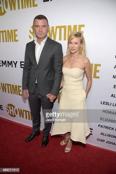 Actor Liev Schreiber and actress Naomi Watts attend Showtime's 2015 Emmy Eve Party at Sunset Tower Hotel on September 19 2015 in West Hollywood...