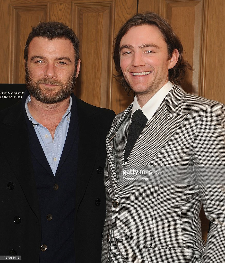 Actor <a gi-track='captionPersonalityLinkClicked' href=/galleries/search?phrase=Liev+Schreiber&family=editorial&specificpeople=203259 ng-click='$event.stopPropagation()'>Liev Schreiber</a> and director/writer Jay Bulger (R) attend the 'Beware Of Mr. Baker' New York Screening at Crosby Street Hotel on November 27, 2012 in New York City.