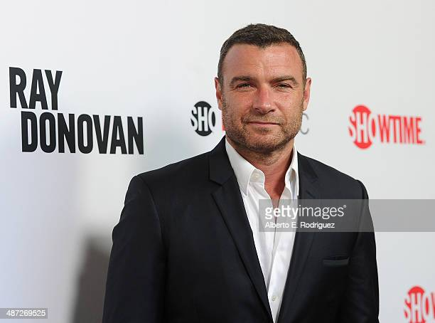 Actor Liev Schreiber arrive to an exclusive conversation with the cast of Showtime's 'Ray Donovan' at Leonard H Goldenson Theatre on April 28 2014 in...