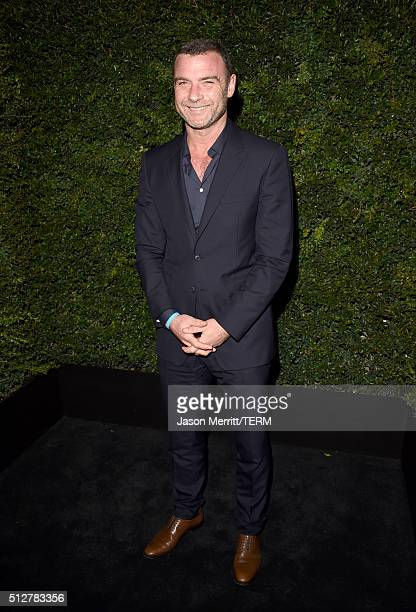 Actor Liev Schreiber attends the Charles Finch and Chanel PreOscar Awards Dinner at Madeo Restaurant on February 27 2016 in Los Angeles California