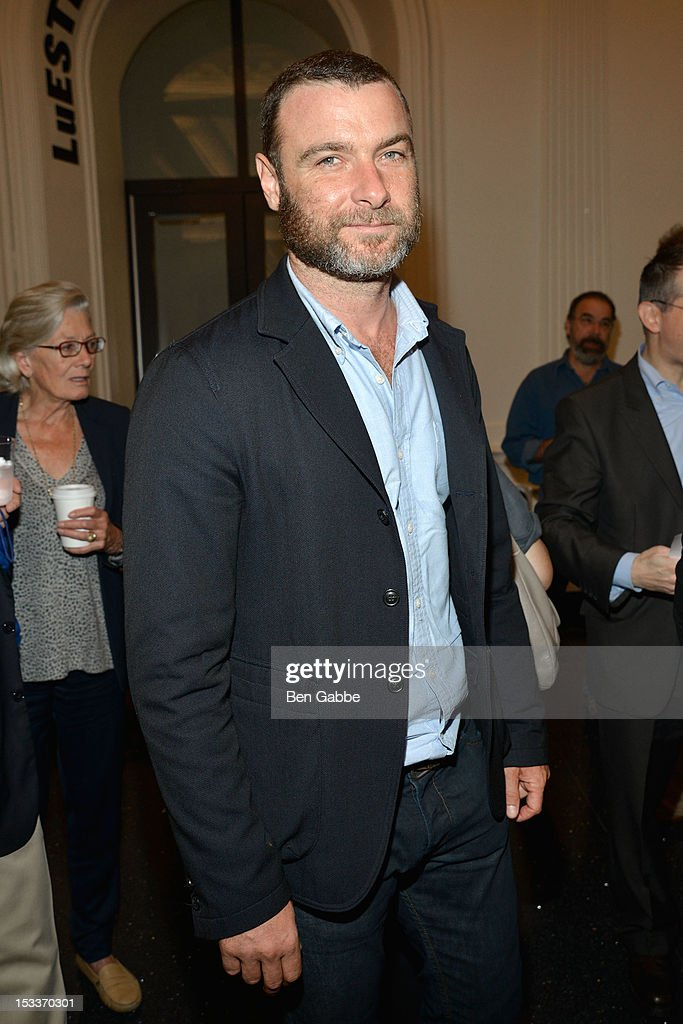 Actor <a gi-track='captionPersonalityLinkClicked' href=/galleries/search?phrase=Liev+Schreiber&family=editorial&specificpeople=203259 ng-click='$event.stopPropagation()'>Liev Schreiber</a> attends the Public Theater unveiling on October 4, 2012 in New York City.