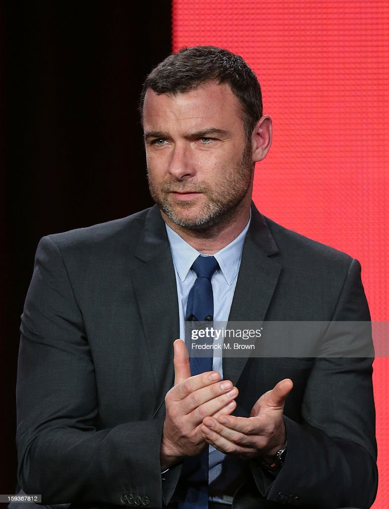 Actor Liev Schreiber of 'Ray Donovan' speaks onstage during the Showtime portion of the 2013 Winter TCA Tour at Langham Hotel on January 12, 2013 in Pasadena, California.