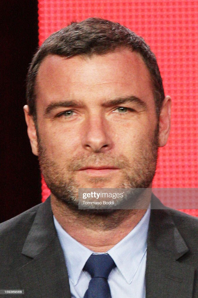 Actor <a gi-track='captionPersonalityLinkClicked' href=/galleries/search?phrase=Liev+Schreiber&family=editorial&specificpeople=203259 ng-click='$event.stopPropagation()'>Liev Schreiber</a> of the TV show 'Ray Donovan' attends the 2013 TCA Winter Press Tour CW/CBS panel held at The Langham Huntington Hotel and Spa on January 12, 2013 in Pasadena, California.