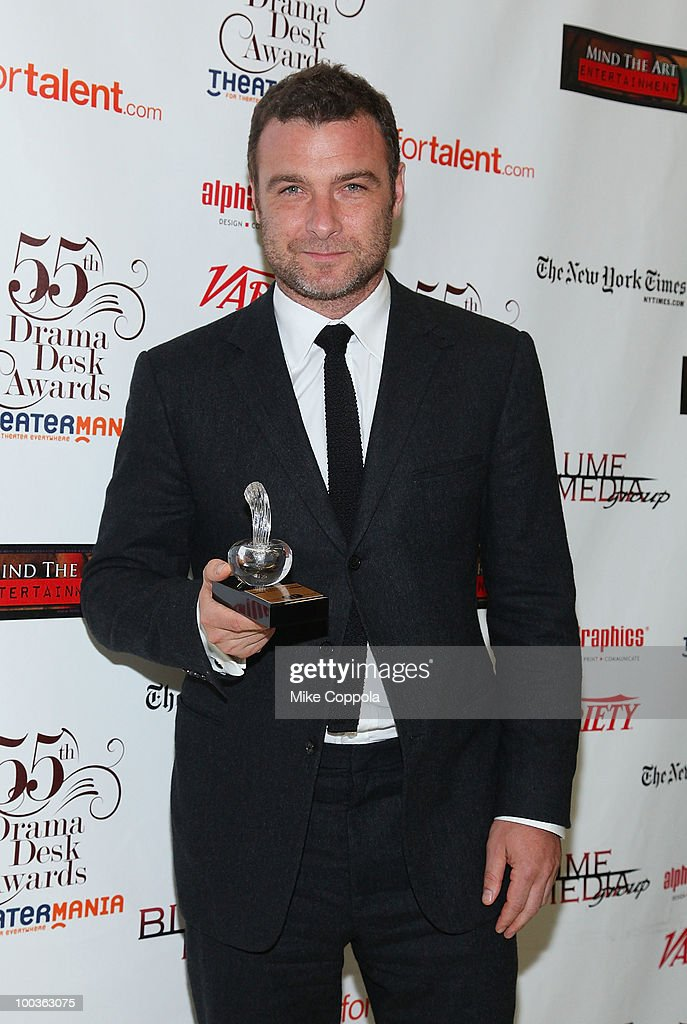 Actor Liev Schreiber receives an award at the 55th Annual Drama Desk Awards at the FH LaGuardia Concert Hall at Lincoln Center on May 23, 2010 in New York City.