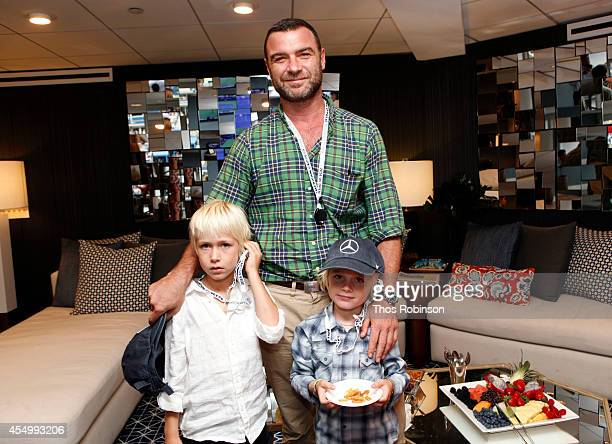 Actor Liev Schreiber Spotted In The MercedesBenz VIP Suite At The 2014 US Open at Arthur Ashe Stadium in Queens New York