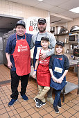 Liev Schreiber Volunteers With Feeding America At The...