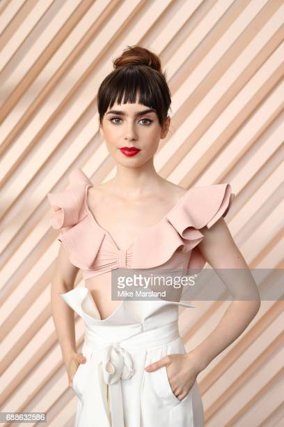 Actor Lily Collins is photographed on May 21 2017 in Cannes France