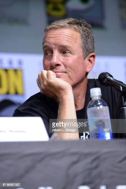 Actor Linden Ashby speaks onstage at the 'Teen Wolf' panel during ComicCon International 2017 at San Diego Convention Center on July 20 2017 in San...