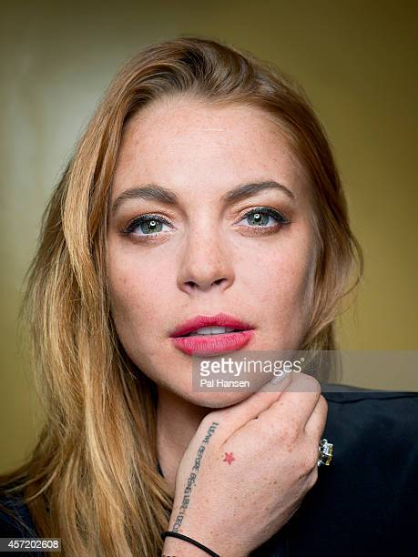 Actor Lindsay Lohan is photographed for Time Out on September 10 2014 in London England