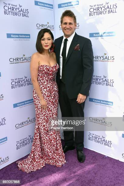 Actor Lindsay Price and chef/tv personality Curtis Stone attend the 16th Annual Chrysalis Butterfly Ball at Private Residence on June 3 2017 in...