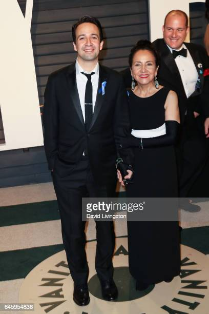 Actor LinManuel Miranda and Luz TownsMiranda attend the 2017 Vanity Fair Oscar Party hosted by Graydon Carter at the Wallis Annenberg Center for the...