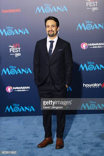 Actor LinManuel Miranda arrives at the AFI FEST 2016 presented by Audi premiere of Disney's 'Moana' held at the El Capitan Theatre on November 14...