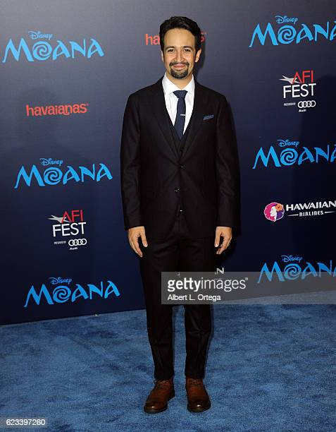 Actor LinManuel Miranda arrives for the AFI FEST 2016 Presented By Audi Premiere Of Disney's 'Moana' held at the El Capitan Theatre on November 14...