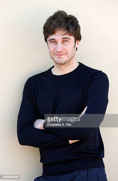Actor Lino Guanciale attends 'La Dama Velata' Tv Movie photocall at Lux Vide on March 12 2015 in Rome Italy