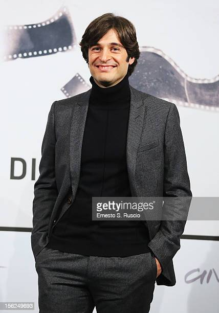 Actor Lino Guanciale attends the 'Il Volto Di Un'Altra' Photocall during the 7th Rome Film Festival at the Auditorium Parco Della Musica on November...