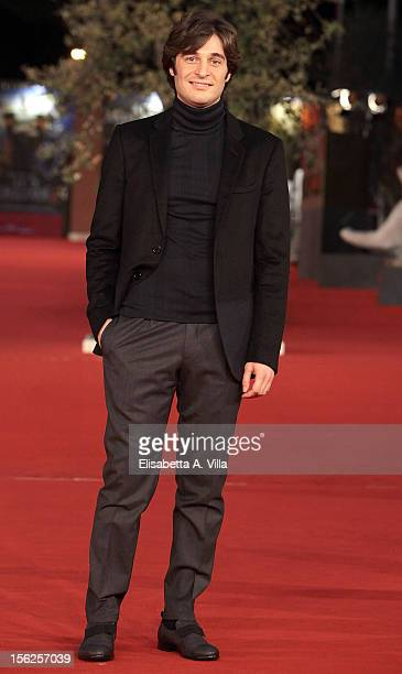 Actor Lino Guanciale attends the 'Il Volto Di Un'Altra' Premiere during the 7th Rome Film Festival at Auditorium Parco Della Musica on November 12...