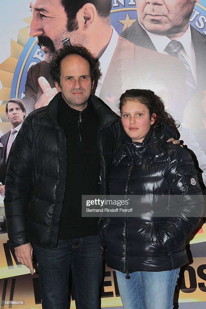 Actor Lionel Abelanski and his daughter Suzanne Abelanski attend the Paris Premiere of the movie 'Mais Qui A Re Tue Pamela Rose', at Cinema Gaumont Marignan on December 2, 2012 in Paris, France.
