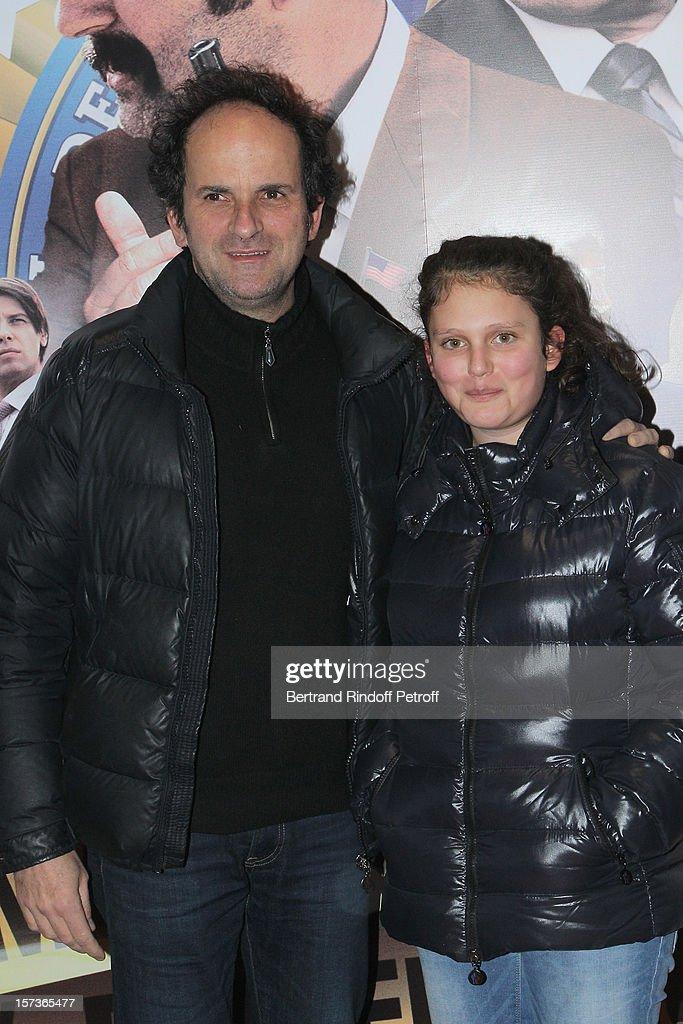 Actor Lionel Abelanski and his daughter Suzanne Abelanski attend the Paris Premiere of the movie 'Mais Qui A Re Tue Pamela Rose', at Cinema Gaumont Marignan on December 2, 2012 in Paris, France.