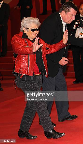 Actor Little Bob and Director and writer Aki Kaurismaki attend the 'La Havre' Premiere at the Palais des Festivals during the 64th Cannes Film...