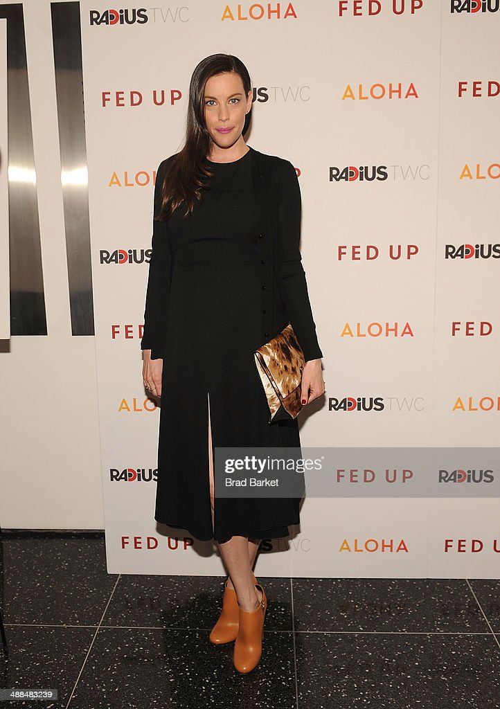 Actor <a gi-track='captionPersonalityLinkClicked' href=/galleries/search?phrase=Liv+Tyler&family=editorial&specificpeople=202094 ng-click='$event.stopPropagation()'>Liv Tyler</a> attends 'Fed Up' premiere at Museum of Modern Art on May 6, 2014 in New York City.