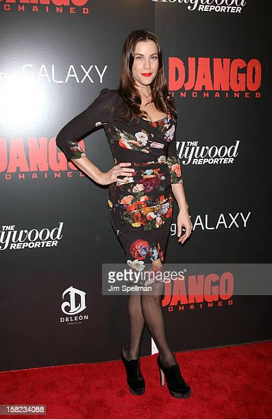 Actor Liv Tyler attends The Weinstein Company with The Hollywood Reporter Samsung Galaxy The Cinema Society screening of 'Django Unchained' at the...