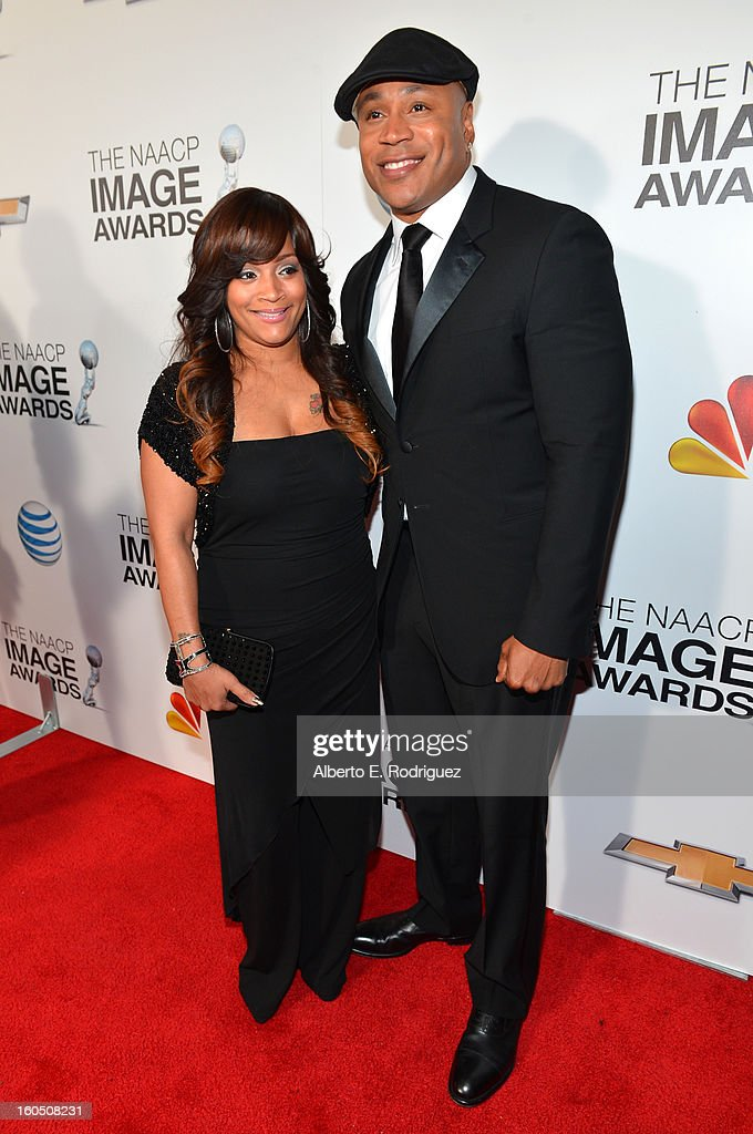 Actor LL Cool J (R) and wife, Simone I. Smith attend the 44th NAACP Image Awards at The Shrine Auditorium on February 1, 2013 in Los Angeles, California.