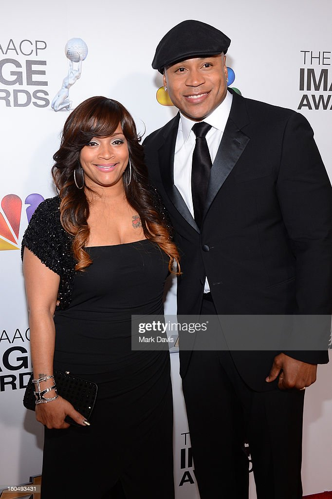 Actor LL Cool J (R) and wife Simone Johnson attend the 44th NAACP Image Awards at The Shrine Auditorium on February 1, 2013 in Los Angeles, California.