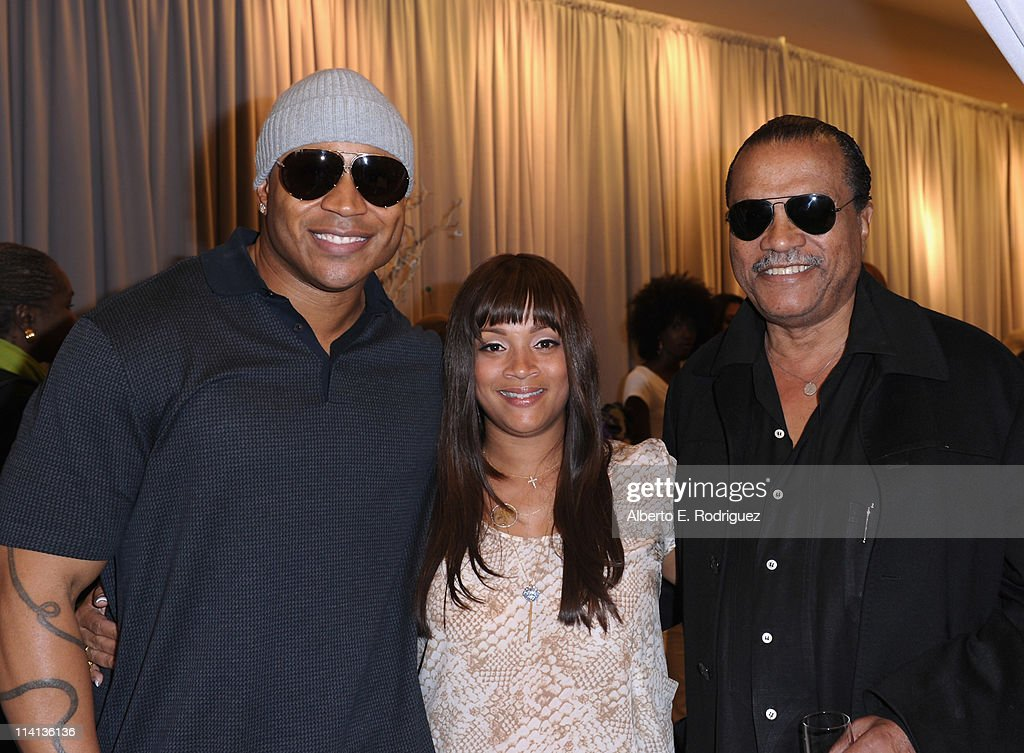 Actor LL Cool J desinger Simone I Smith and actor Billy Dee Williams attend a personal appearance by Simone I Smith at Bloomingdale's on May 12 2011...