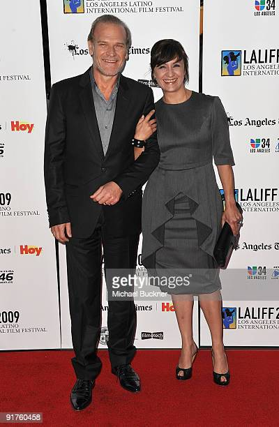 Actor Lluis Homar and Actress Blanca Portillo arrive at the 13th Annual Los Angeles Latino Film Festival Opening Night Gala at the Grauman's Chinese...
