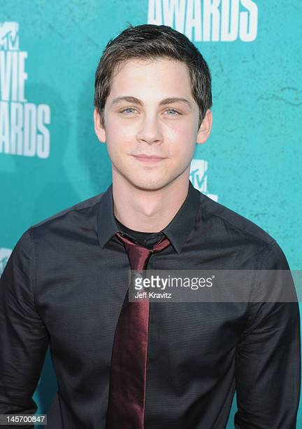 Actor Logan Lerman arrives at the 2012 MTV Movie Awards held at Gibson Amphitheatre on June 3 2012 in Universal City California