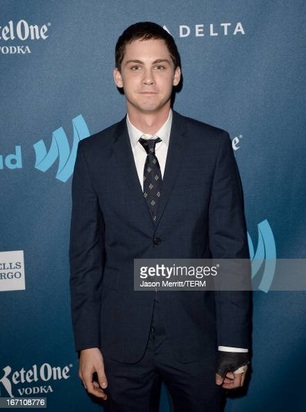 Actor Logan Lerman arrives at the 24th Annual GLAAD Media Awards at JW Marriott Los Angeles at LA LIVE on April 20 2013 in Los Angeles California