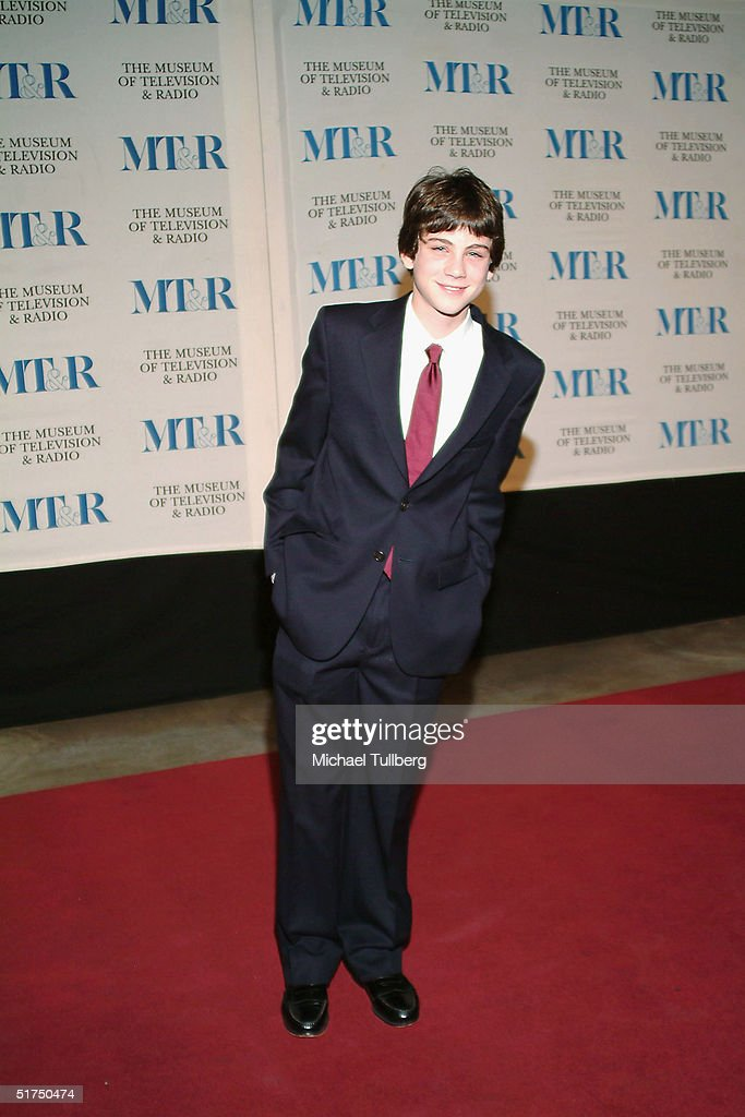 Actor <a gi-track='captionPersonalityLinkClicked' href=/galleries/search?phrase=Logan+Lerman&family=editorial&specificpeople=635439 ng-click='$event.stopPropagation()'>Logan Lerman</a> arrives at the Museum of Television and Radio's gala tribute to Barbara Walters, held on November 15, 2004 at the Beverly Hills Hotel, in Beverly Hills, CA, California.