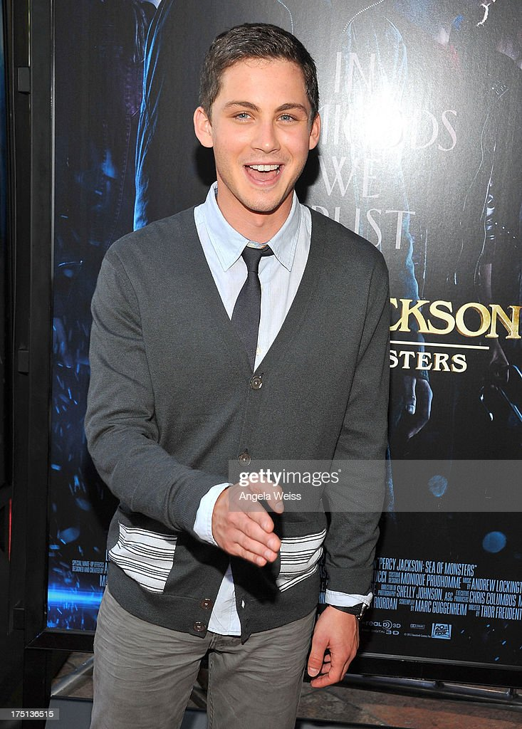 Actor <a gi-track='captionPersonalityLinkClicked' href=/galleries/search?phrase=Logan+Lerman&family=editorial&specificpeople=635439 ng-click='$event.stopPropagation()'>Logan Lerman</a> arrives at the premiere of 'Percy Jackson: Sea Of Monsters' at The Americana at Brand on July 31, 2013 in Glendale, California.