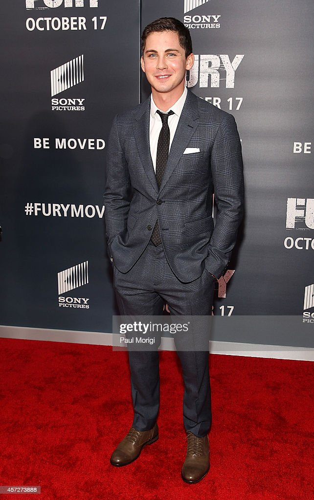 Actor Logan Lerman attends the 'Fury' Washington DC Premiere at The Newseum on October 15 2014 in Washington DC