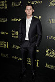 Actor Logan Lerman attends the Hollywood Foreign Press Association and InStyle's celebration of the 2015 Golden Globe award season at Fig Olive...