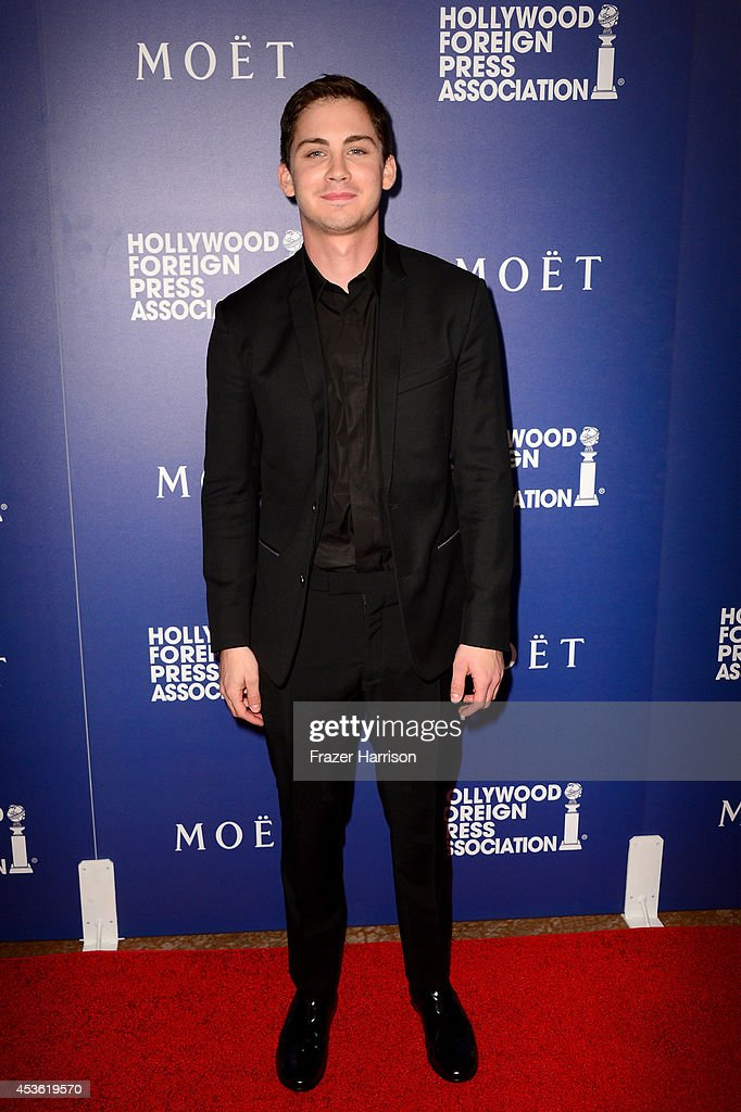 Actor <a gi-track='captionPersonalityLinkClicked' href=/galleries/search?phrase=Logan+Lerman&family=editorial&specificpeople=635439 ng-click='$event.stopPropagation()'>Logan Lerman</a> attends the Hollywood Foreign Press Association's Grants Banquet at The Beverly Hilton Hotel on August 14, 2014 in Beverly Hills, California.