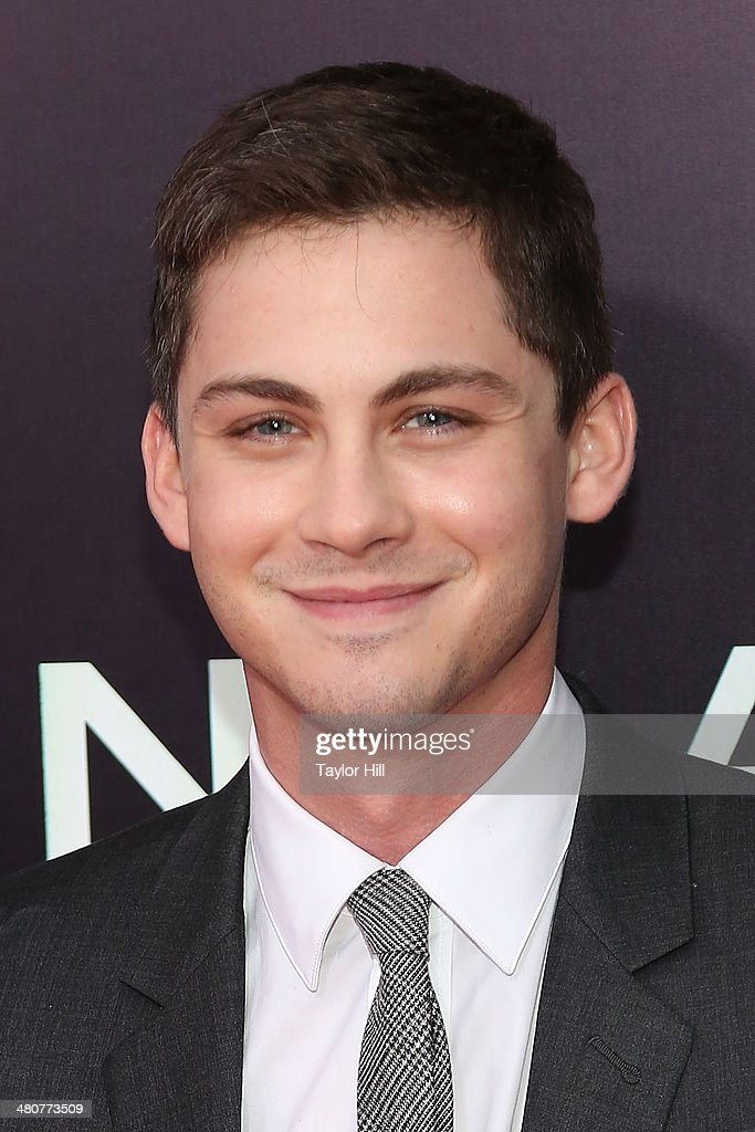 Actor <a gi-track='captionPersonalityLinkClicked' href=/galleries/search?phrase=Logan+Lerman&family=editorial&specificpeople=635439 ng-click='$event.stopPropagation()'>Logan Lerman</a> attends the 'Noah' premiere at Ziegfeld Theatre on March 26, 2014 in New York City.