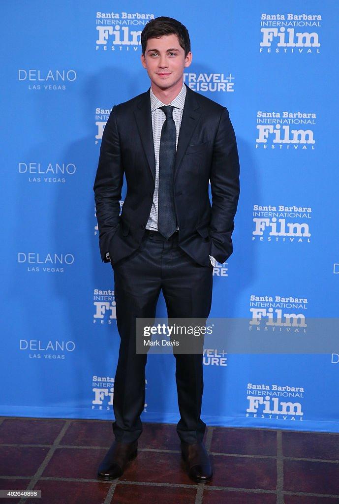 Actor Logan Lerman attends the Virtuosos Award at the 30th Santa Barbara International Film Festival at the Arlington Theater on February 1 2015 in...